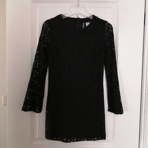 H&M A-Line Lace Black Dress